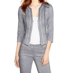 White House Black Market 3/4 Sleeve Linen Jacket
